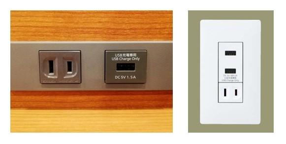 ※USBコンセント